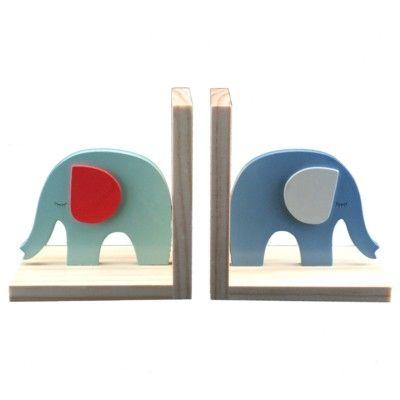 Bokstöd - Elefanter