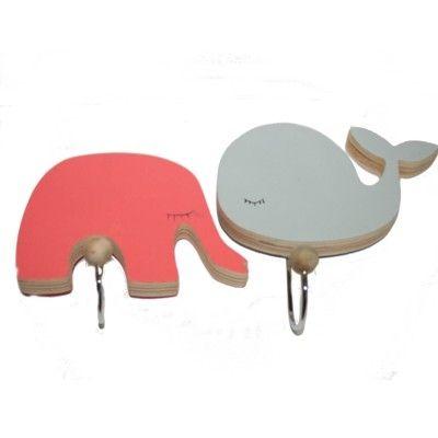 Krokar i trä - elefant och val
