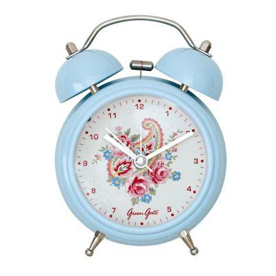 Väckarklocka - ljusblå med paisleymönster