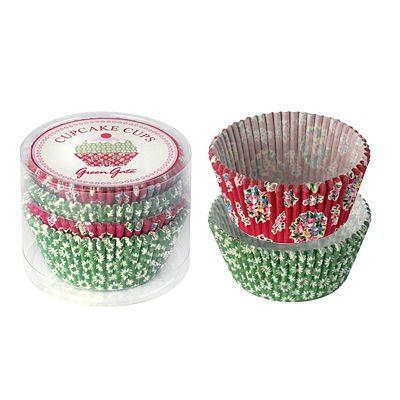 Muffinsformar - Millie, röd/grön - 100 st