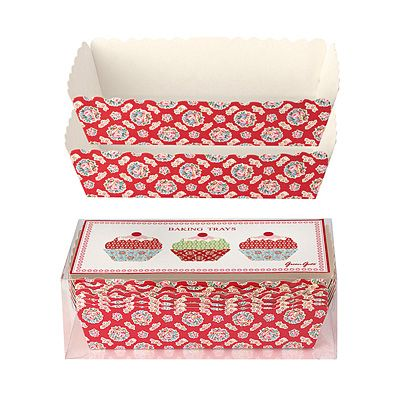 Bakformar i papper, stora - Millie, röd