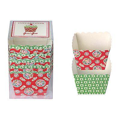 Bakformar i papper, små - Millie, röd/grön