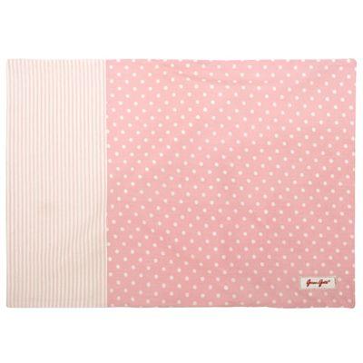 Örngott - rosa och vitprickigt - 50x70