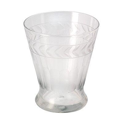 Vattenglas med etsningar