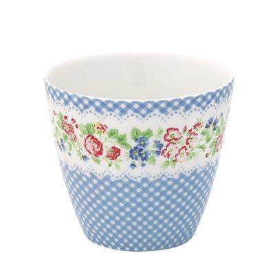 Lattemugg i porslin - Ivy - blå