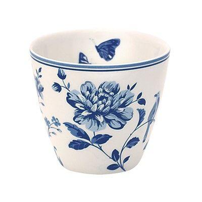 Lattemugg i porslin - Penelope - blå