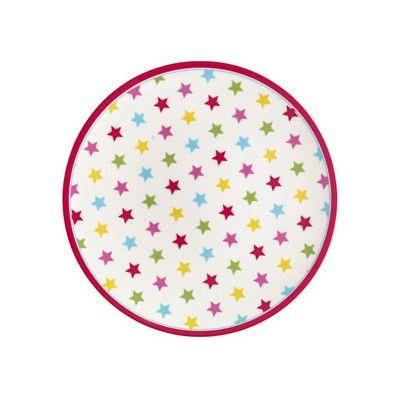 Tallrik i melamin - Star - multi