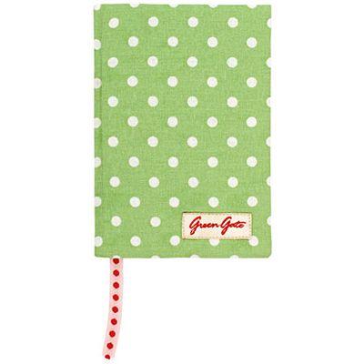 Anteckningsbok - grön med vita prickar