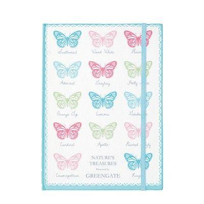 Anteckningsbok - Papillon mint - GreenGate