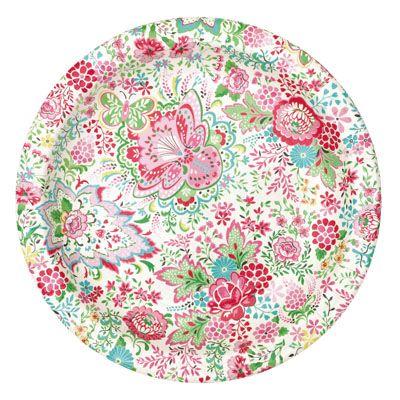 Papperstallrik - Fia - blommig