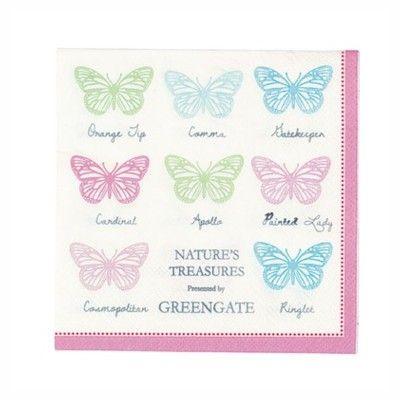 Servetter - Papillon white - GreenGate