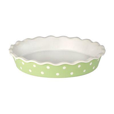 Pajform - ljusgrön med vita prickar