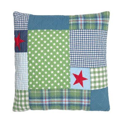 Kuddfodral - Hans, grönt, blått och rött