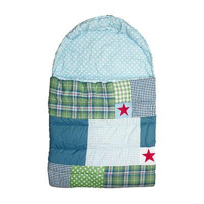 Sovsäck - Hans, röd, grön, blå med röda stjärnor