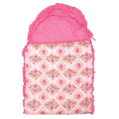 Sovsäck - Maggie, rosa med blommor