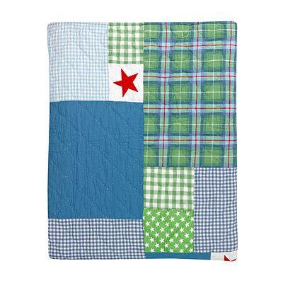 Överkast - Hans, grönt, blått och rött