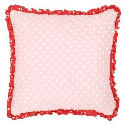 Kuddöverdrag - rosa/röd