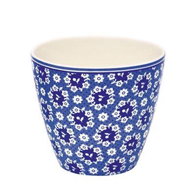Lattemugg i porslin - Fay - blå