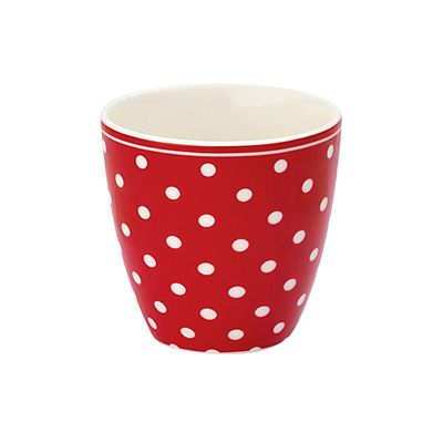 Lattemugg, mini - spot röd - Greengate