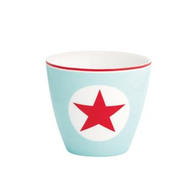 Lattemugg, mini - Star pale blue - GreenGate