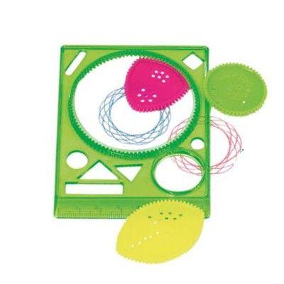 Rita spiralmönster med mallar - grön