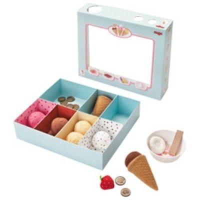 Leksaksmat - Glasskiosk med glassar och kulor i tyg