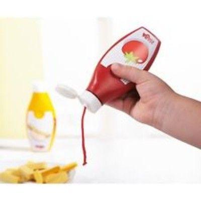 Leksaksmat - Set med ketchup- & senapsflaska