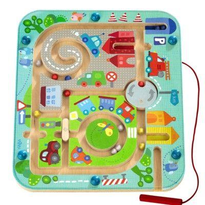 Labyrint med magneter, stad