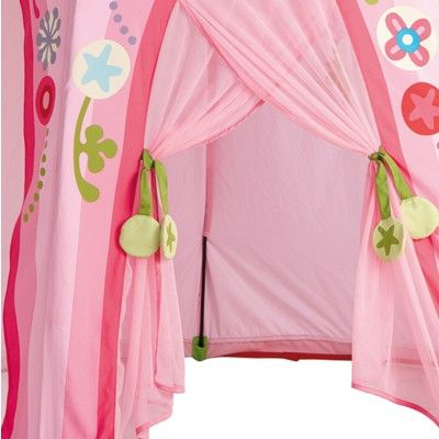 Tält till lek - blomsterkrans