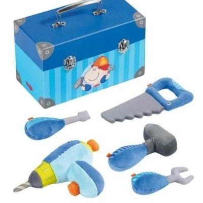 Verktygslåda med verktyg i tyg