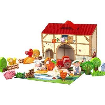 Bondgård med djur i väska