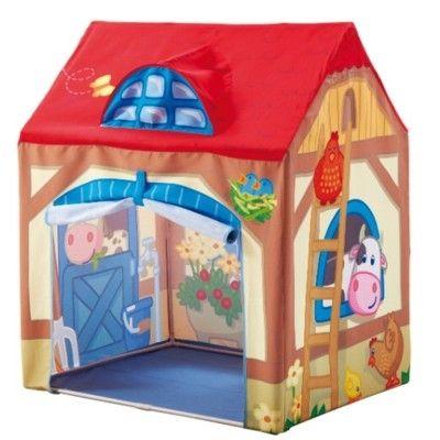 Tält till lek - bondgård
