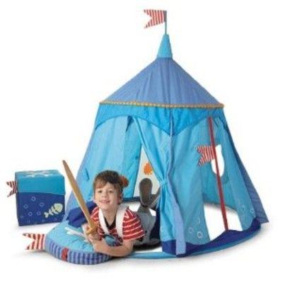 Tält till lek - Pirat, blått