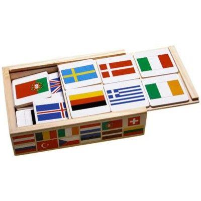 Memory i trä - flaggor