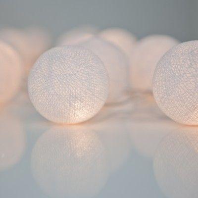 Ljusslinga - pure white - 35 lampor - Irislight