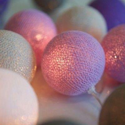 Ljusslinga - lavender - 20 lampor - Irislights