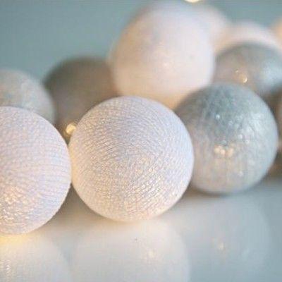 Ljusslinga - silver - 20 lampor - Irislight