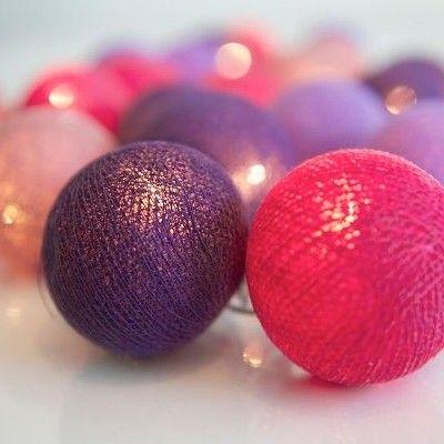Ljusslinga - vivid violet - 35 lampor