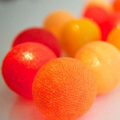 Ljusslinga - tangerine - 20 lampor - Irislights