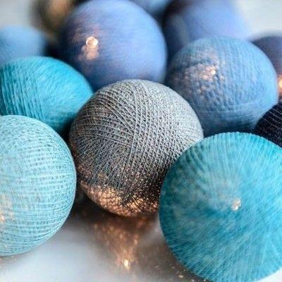 Ljusslinga - ocean blue - 20 lampor - Irislights