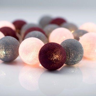 Ljusslinga - ruby - 20 lampor - Irislight