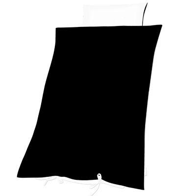 Påslakanset i vuxenstorlek - svart/vit