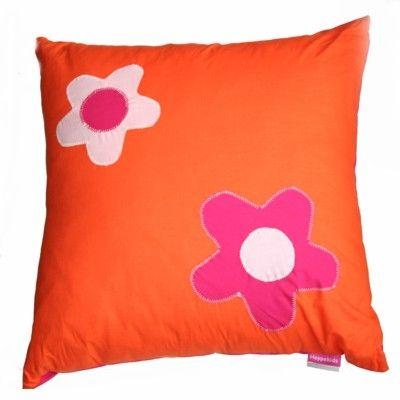 Kudde med blommor - orange - Flower Power