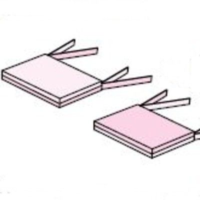 Sittdyna till möbelset - 2 st - Fairytale, ljusrosa
