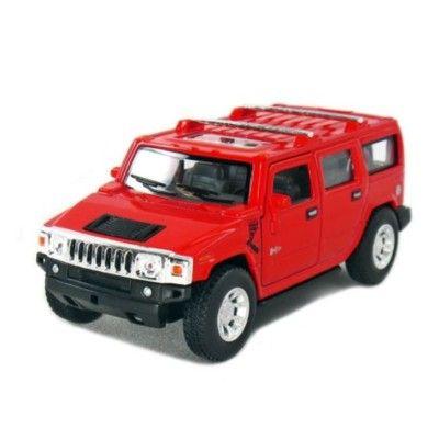 Bil i metall - Hummer H2 SUV (2008) - röd