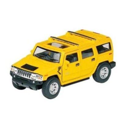 Bil i metall - Hummer H2 SUV (2008) - gul