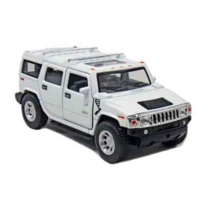 Bil i metall - Hummer H2 SUV (2008) - vit