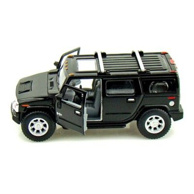 Bil i metall - Hummer H2 SUV (2008) - svart