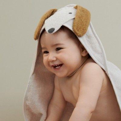 babyhandduk med luva - Dog sandy - Ekologisk från Liewood