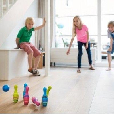 Bowling i trä - tre färger
